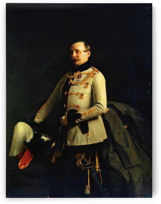 Portrait of a military man by Sergei Konstantinovich Zaryanko