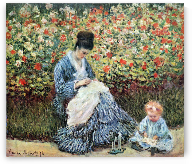Madame Monet and child by Monet by Monet