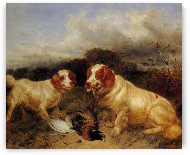 Two hunting dogs by Richard Ansdell