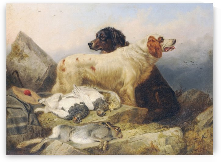 Hunting dogs and their hunt by Richard Ansdell