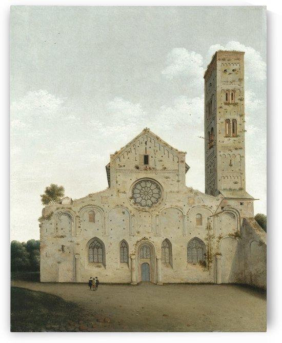 A large white church in Utrecht by Pieter Jansz Saenredam