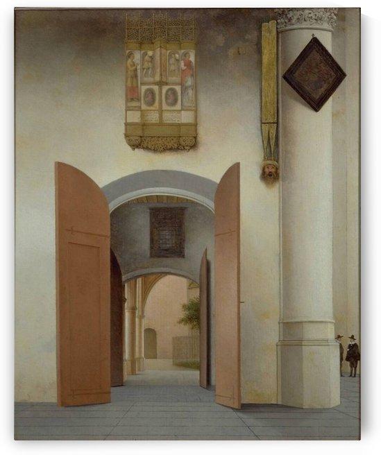 Interior of the Sint-Laurenskerk in Alkmaar by Pieter Jansz Saenredam