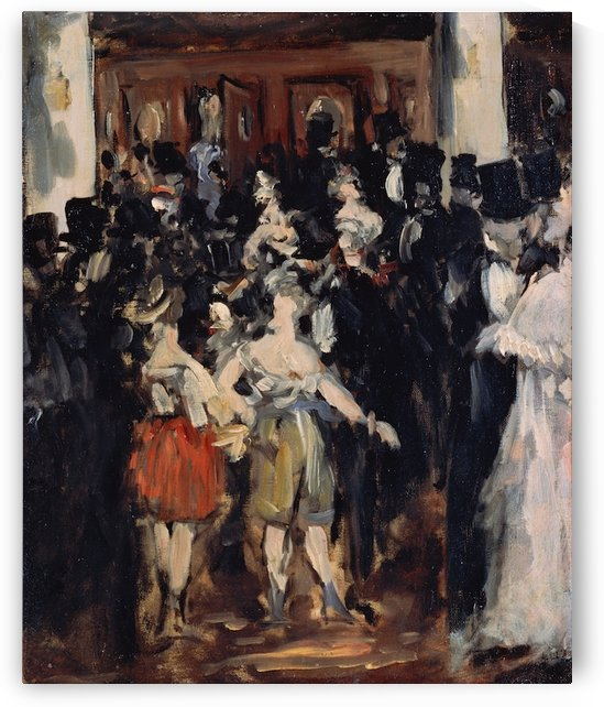 Manet - Masked ball at the Opera by