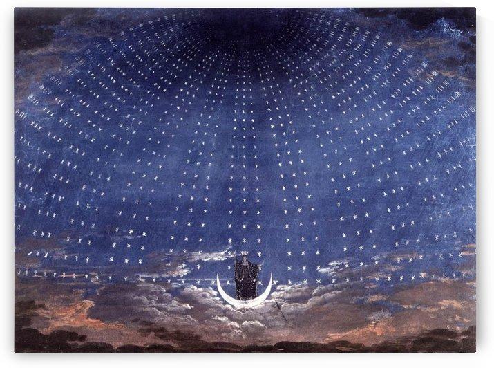 Stage set for Mozart's Magic Flute by Karl Friedrich Schinkel