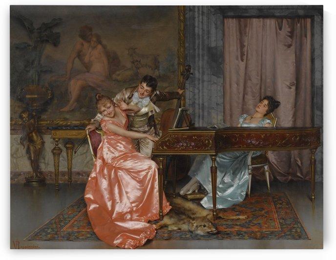 Flirting over the piano by Stephan Sedlacek