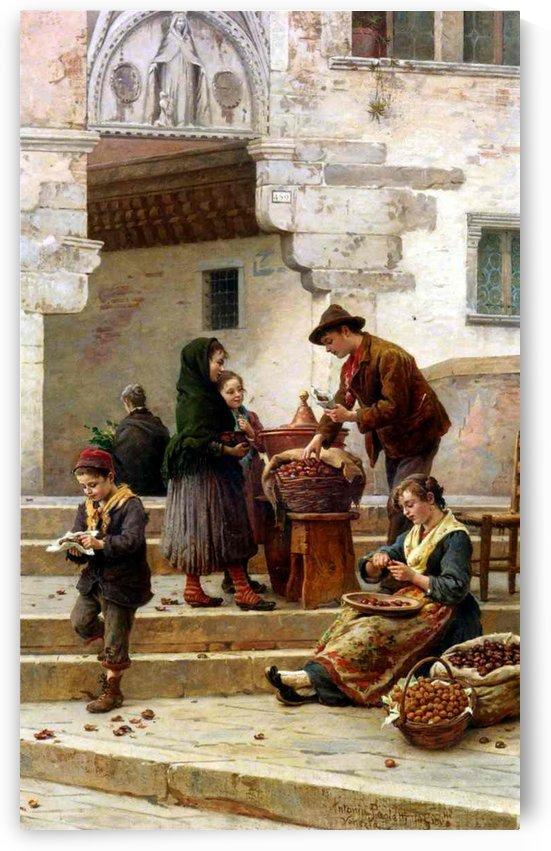 Children in the market by Antonio Ermolao Paoletti