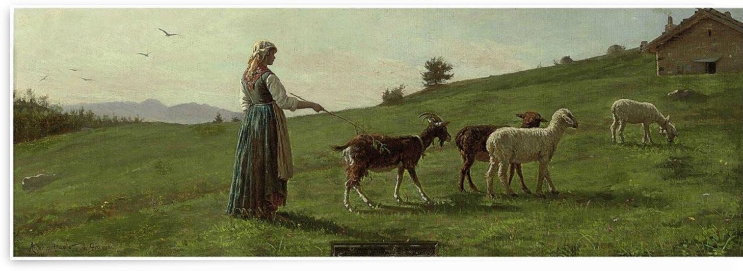 A young shepardess by Antonio Ermolao Paoletti
