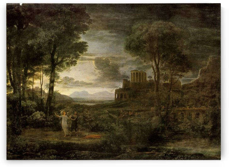 Vision of an angel in a gray forest by Claude Lorrain