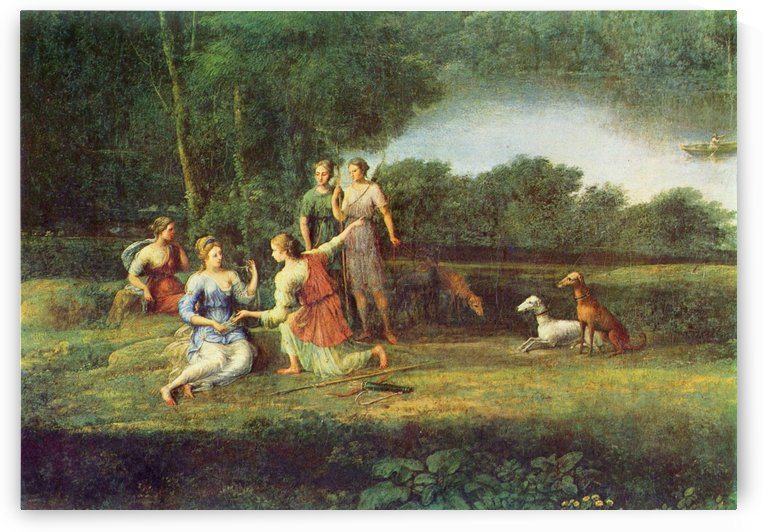 Picnic in a forest by Claude Lorrain