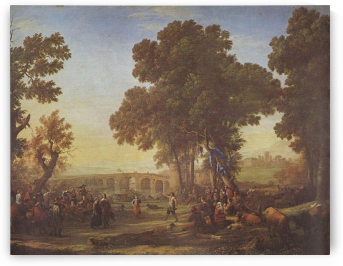 Landscape with people and nature by Claude Lorrain