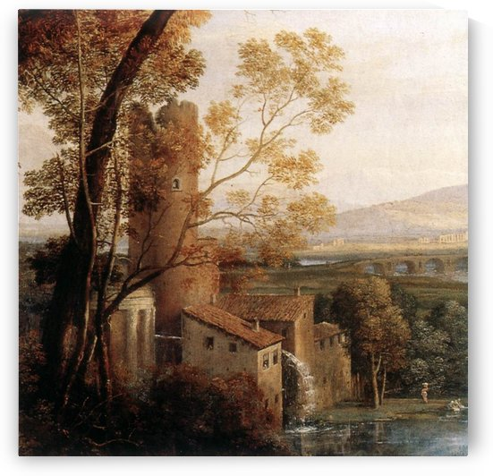 An old mill by Claude Lorrain