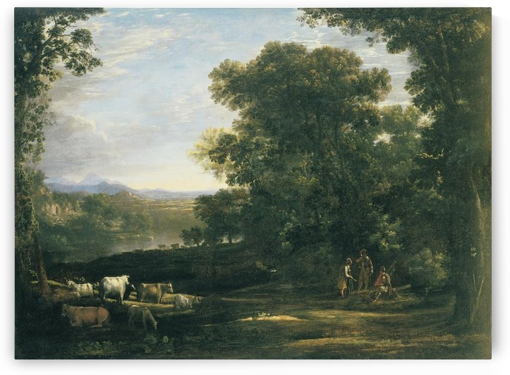 People tending to animals by Claude Lorrain