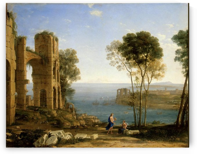 View with Apollo and the Cumaean Sibyl by Claude Lorrain