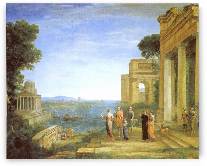 View of Carthage Dido and Aeneas to hunt by Claude Lorrain