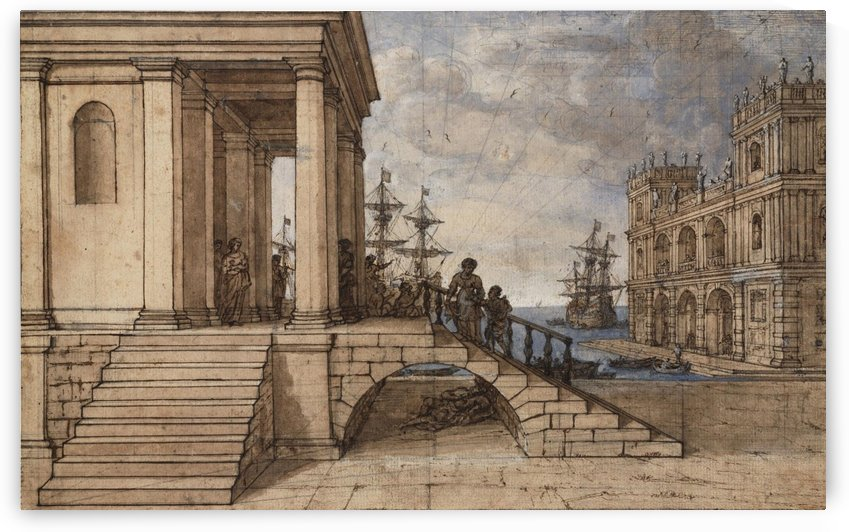 Two Palaces with St. Alexis by Claude Lorrain