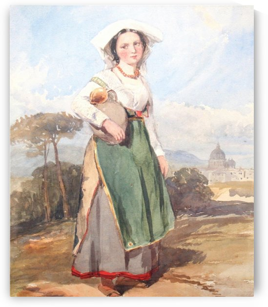 An Italian peasant girl by Penry Williams