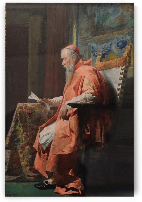 A cardinal reading a letter by Josep Tapiro Baro
