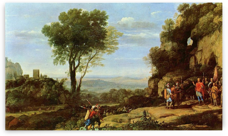 People entering the cave by Claude Lorrain