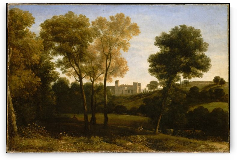 View with trees by Claude Lorrain
