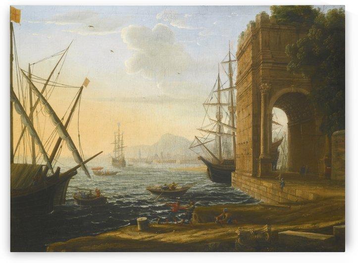 Boats coming to shore by Claude Lorrain