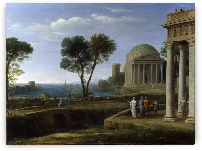 Landscape with Aeneas at Delos by Claude Lorrain