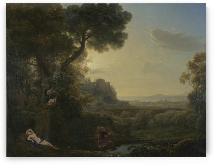 Landscape with Narcissus and Echo by Claude Lorrain