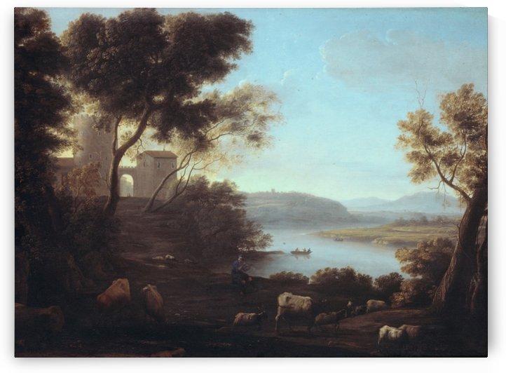 A shepherd and his heard by Claude Lorrain