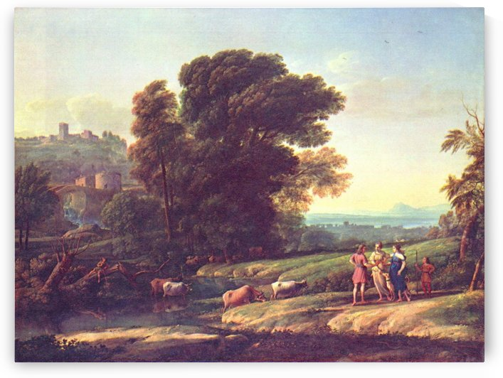 Heards coming out of the water by Claude Lorrain