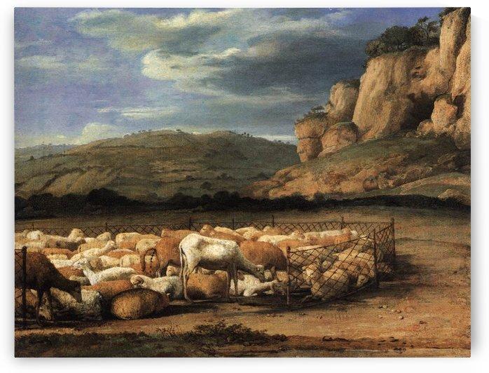 Troupeau de moutons dans la campagne (1656) by Claude Lorrain