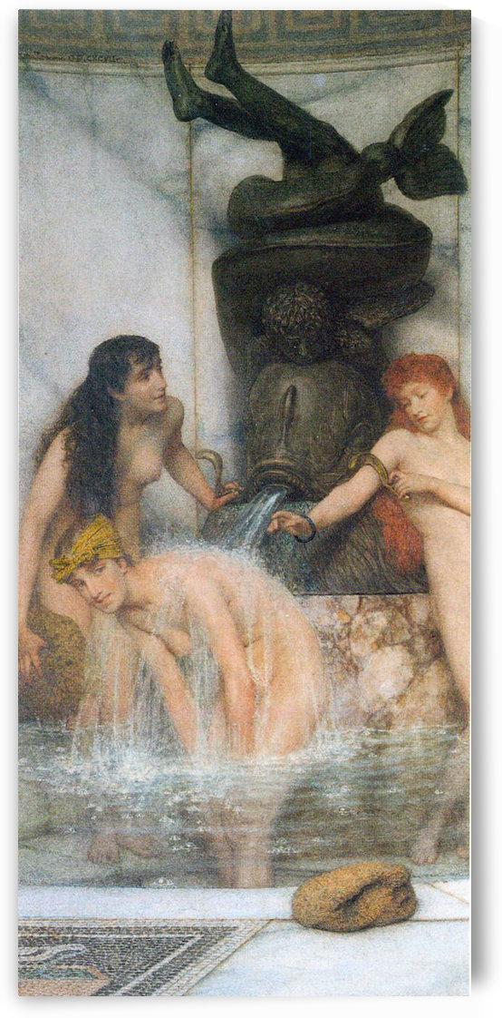 Strigilis and sponges by Alma-Tadema by Alma-Tadema