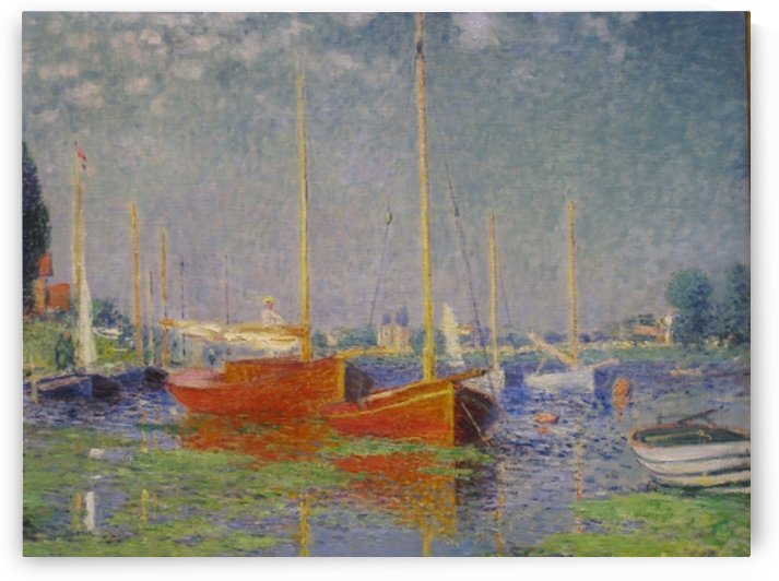 Monet - Red boats at Argenteuil by
