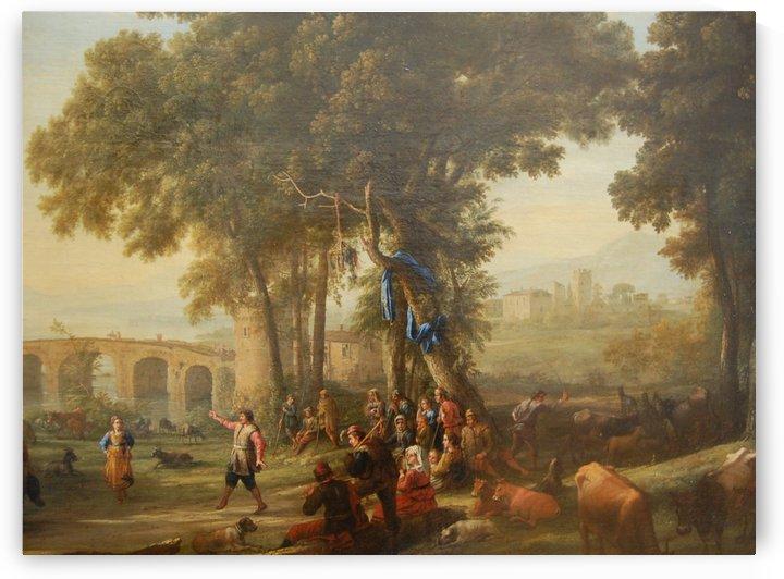 Le debarquement de Cleopatre a Tarse by Claude Lorrain