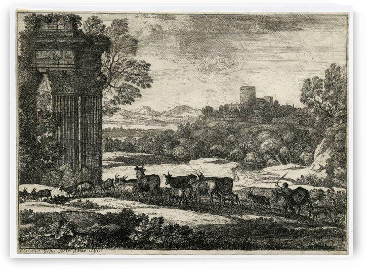 Le troupeau en marche par un temps orageux by Claude Lorrain