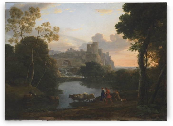 View of Tivoli at Sunset by Claude Lorrain