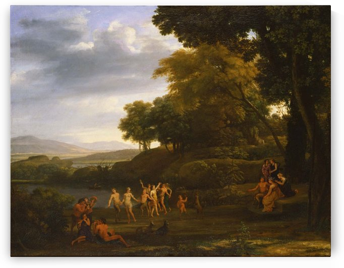 Landscape with Dancing Satyrs and Nymphs by Claude Lorrain