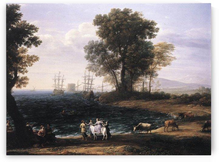 Vue cotiere avec l'enlevement d'Europe by Claude Lorrain