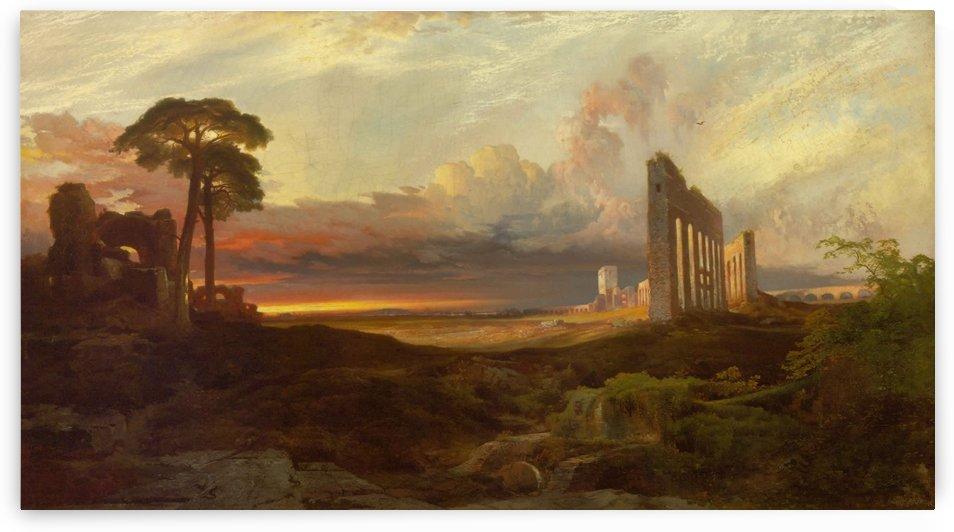 Rome Sunset by Claude Lorrain