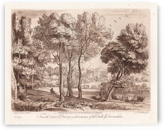 Schetch of a view of the city by Claude Lorrain
