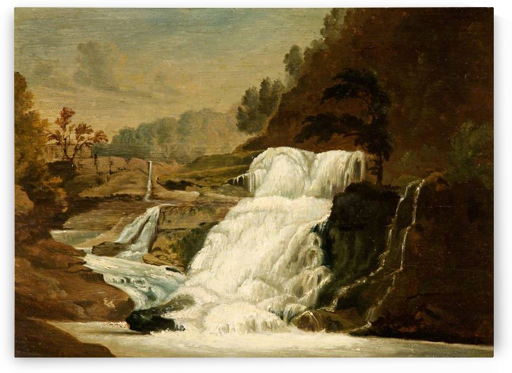 Waterfall in the Neath Valley by Penry Williams