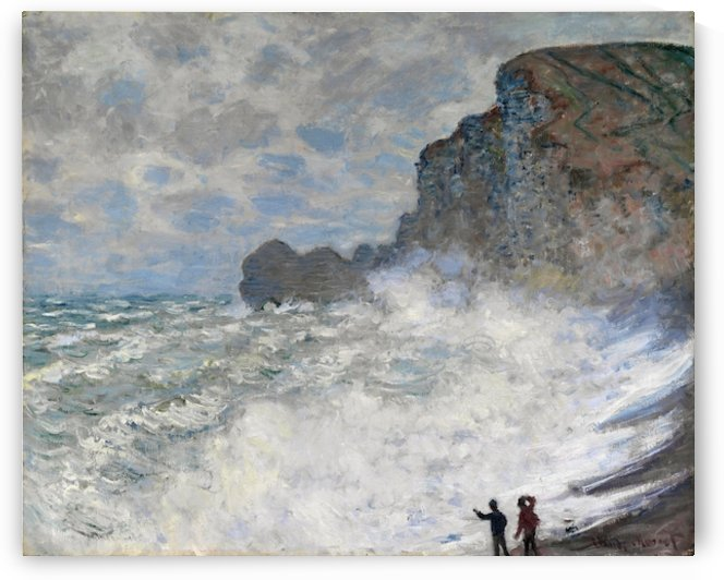 Monet - Rough weather at Etretat by