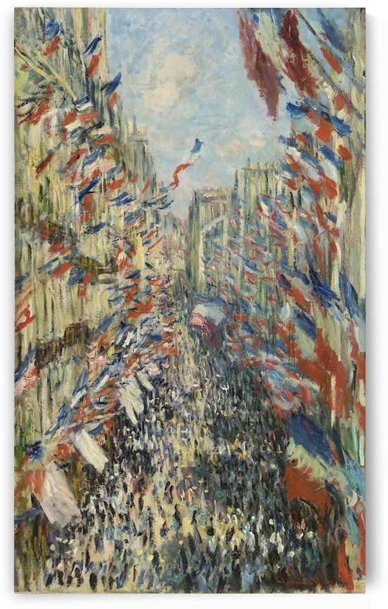 Monet - The Rue Montorgueil in Paris by