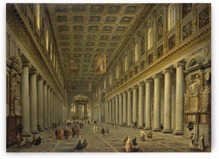 Interior of the Santa Maria Maggiore in Rome by Giovanni Paolo Panini