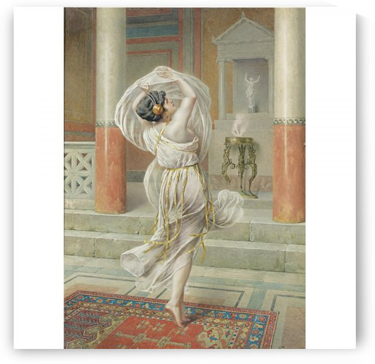 A woman in a white dress dancing by Francesco Ballesio