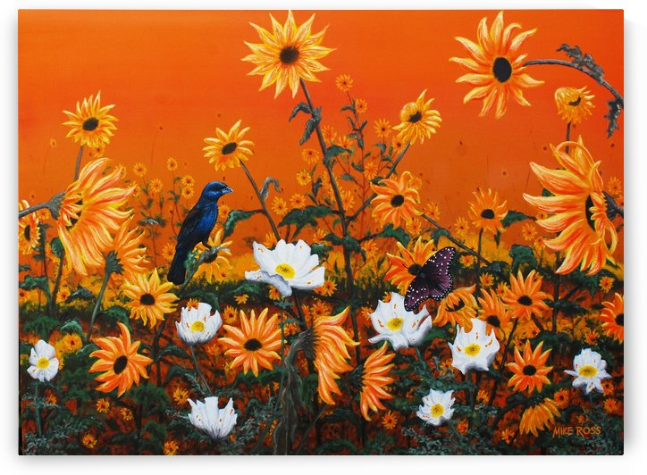 Sunflowers & Prickly Poppies by Mike Ross