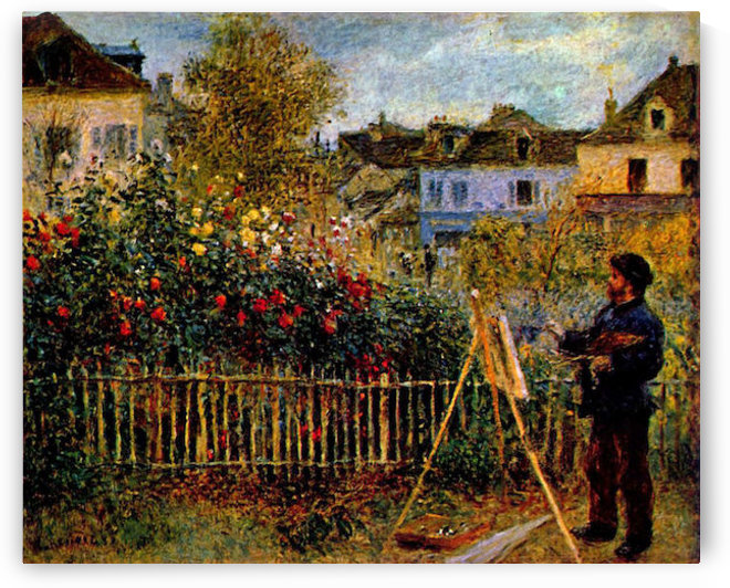 Monet painting in his garden in Argenteuil by