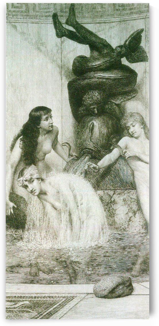 Strigilis and sponges -2- by Alma-Tadema by Alma-Tadema