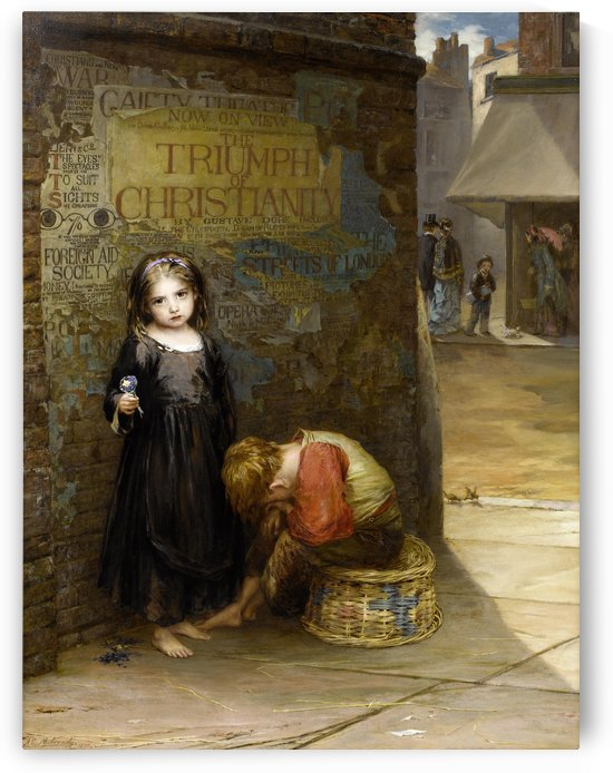 Uncared for 1871 by Augustus Edwin Mulready