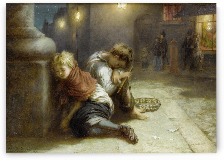 Fatigued Minstrels 1883 by Augustus Edwin Mulready