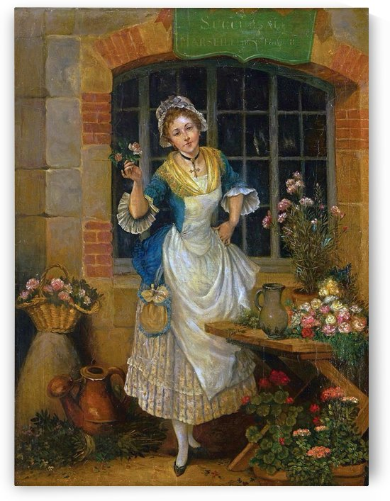 A young florist by Augustus Edwin Mulready