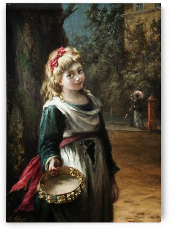 A young blonde girl by Augustus Edwin Mulready